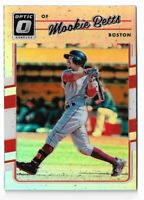 2017 Donruss optic baseball #77 Mookie Betts refractor Holo Boston Red Sox