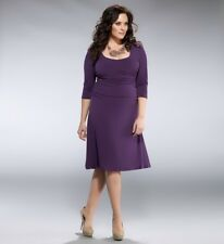 New Kiyonna Dress Purple Size 1 14/16 Ruching Bodycon Style NWT