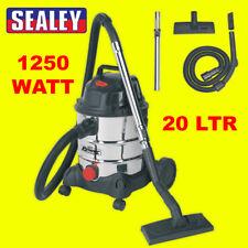 Sealey PC200SD 110 V Aspiradora industrial húmedo y seco 20ltr 1250 W de acero