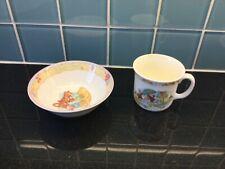 Royal Doulton English Fine Bone China Bunnykins Mug & Winnie the Pooh Bowl Gift