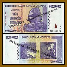 Zimbabwe 10 Billion Dollars, 2008 P-85 Replacement (ZA) Circulated