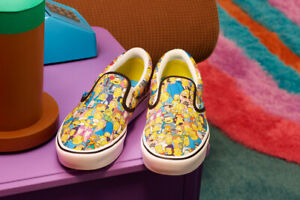 Vans x The Simpsons ComfyCush Slip-On Shoes. Men's UK8 (Limited Edition) New