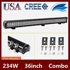 36inch 234W LED WORK LIGHT BAR FLOOD&SPOT COMBO OFFROAD CAR BOAT TRUCK UTE 34/38