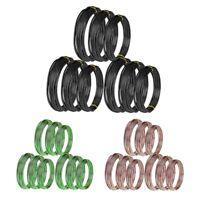 9 Rolls Bonsai Wires Anodized Aluminum Bonsai Training Wire with 3 Sizes (1 T8W2