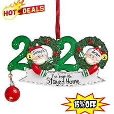 2020 Merry Christmas Hanging Ornament Family Personalized Ornaments XmasDecor
