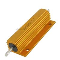 1Pcs Gold Tone Resistors  5% 100W 50 Ohm Resistance Aluminum Clad Resistors