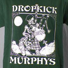 Dropkick Murphys Skeleton Bagpipes Medium T-Shirt Fields Of Athenry Irish Punk