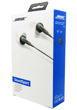 Bose SoundSport In-Ear Earphones - Charcoal opened and inspected