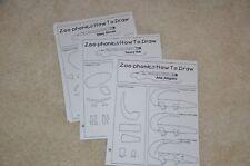 Zoo phonics How To Draw animals blackline master w/o shrinkwrap