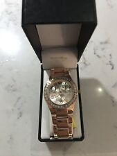 GOSSIP  ROSE GOLD WATCH WITH CRYSTAL FACE NEW IN BOX AND  BATTERY