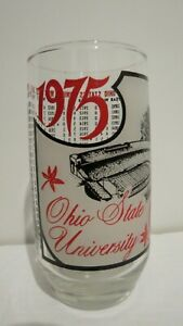 Vintage Ohio State University 1975 Glass - 1890 1940 Annual Won Loss Record