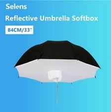 "Outdoor Photo Studio Lighting Umbrella Softbox 33"" Black & Silver Reflective"