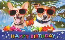 Geburtstagsteelicht Geburtstag Geburtstagkarte Kerze Happy Birthday ( Hunde )
