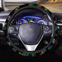 Fashion Automotive Interior Car Steering Wheel Cover Pineapple Printed Black