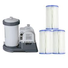 Intex 2500 GPH Swimming Pool Filter Pump + Replacement Filter Cartridge (3 Pack)