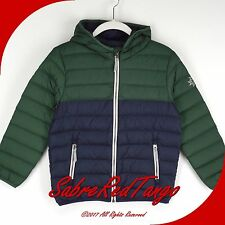 NWT HANNA ANDERSSON SUPERLIGHT PACKABLE DOWN JACKET COAT NAVY GREEN 130 8