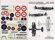 DECALS CARPENA 48.82 - DECALS 1/48 SPITFIRE EXOTICS Pt. 1
