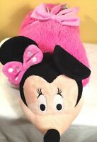 "Disney Pillow Pets Minnie Mouse Large 22"" Pink Plush Stuffed Toy Nap Fun Soft"