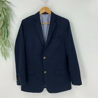 Tommy Hilfiger Boys Suit Jacket BLazer Size 18 Navy Blue Wool Blend Lined