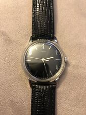 Timex Marlin Hand Wound Vintage Watch Reissue Black/Black BNIB