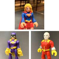 "Lot 3 Imaginext DC Super Friends super girl batman fisher price 2.5"" Figure toy"