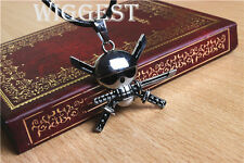 One Piece Roronoa Zoro Skull Sword Symbol Pendant Necklace Gift