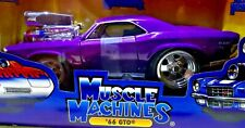 Muscle Machines 1966 PONTIAC GTO PURPLE SUPERCHARGED 1:24 scale Diecast UNOPENED