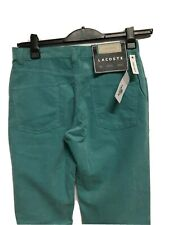 "Womens Lacoste Green CottonTrousers Size 40 UK 12 Waist 30""  Regular Fit"