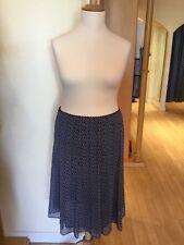 Gerry Weber Skirt Size 16 BNWT Navy White Polka Dot RRP £75 Now £23