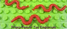LEGO Animal x3 SNAKE Red Harry Potter 4766 Graveyard Star Wars 6211 Barge EUC