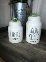 Rae Dunn Irish Kisses & Lucky Clover Canister St. Patrick's Day Set (2)
