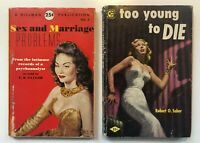 Lot 3  PULP FICTION LURID Pocket Paperback Multiple VINTAGE TRASHY