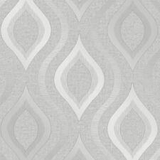Fine Decor Quartz Silver Geometric Retro Glitter Shimmer Wallpaper FD41968