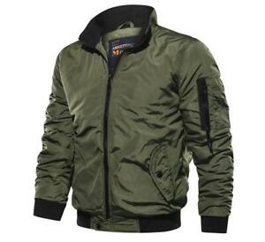 Mens Tactical Outwear Breathable Light Windbreaker Jackets Army Air Force Coat