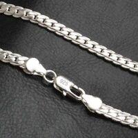 Herren Halskette Panzerkette 925 Sterling Silber plattiert Kette
