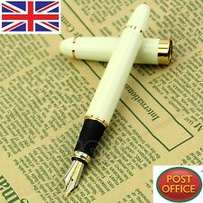 NEW DELUXE Jinhao X450 White Medium Nib Fountain Pen