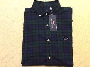 NWT $98 Vineyard Vine Charleston Green Plaid Classic Tucker Button Dn Shirt Sz S