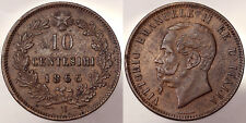 10 Centesimi 1866 Napoli Vittorio Emanuele II Regno d'Italia Italy #2197