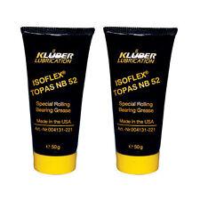 KLUBER ISOFLEX ISO FLEX TOPAS NB52 Roller Bearing Grease - 50g Tube - 2 Pack