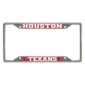 Fanmats NFL Houston Texans Chrome Metal License Plate Frame Delivery 2-4 Days
