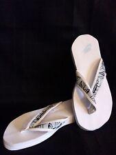 Nike Celso Thong Wht Blue Leave Print Flip Flop  8 Mens / 9 Women's
