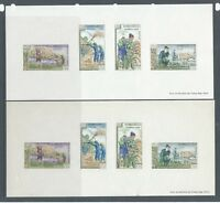 Laos nice selection of early stamps and stamp sheets - 6 scans