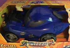 LARGE Batmobile for 6 inch SUPER FRIENDS figures MATTEL Electronic sounds lights