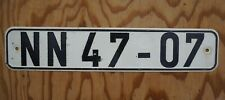 Vintage East Germany License Plate - German Russia Iron Curtain