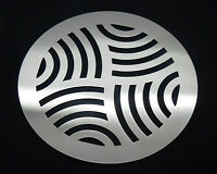 """Swirl Drain Guard 8"""" / 200mm Round Rustproof Stainless Steel Cover Plate Grate"""