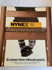 VINTAGE NYNEX YELLOW PAGES CARDBOARD POSTER AD