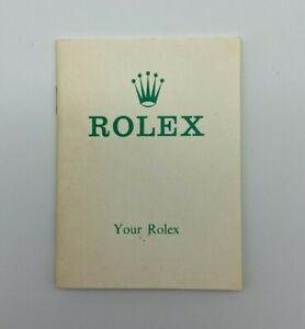 Vintage 1970s Your Rolex Booklet #630