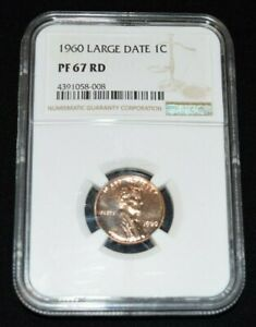 1960 Large Date 1C Proof Lincoln Memorial Cent NGC PF 67 RD