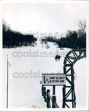 Snow Scene Ski Lift Vermont Ewing Galloway Press Photo