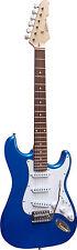 E-Gitarre MSA  Modell-ST5 BLAU - METALLIC , Massivholzkörper, Anschlußkabel!n